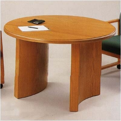 Contemporary Series Circular Conference Table Finish: Mahogany, Profile: Bevel, Size: 3 6 L