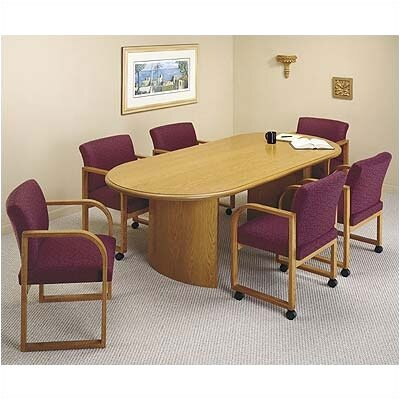 Contemporary Oval Conference Table Finish: Medium, Profile: Bullnose, Size: 6' L Product Image 117