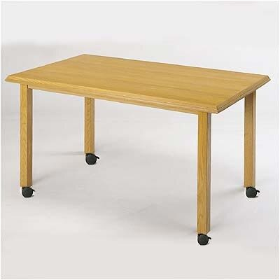 Contemporary Rectangular Conference Table Finish: Medium, Profile: Bevel, Size: 6 L
