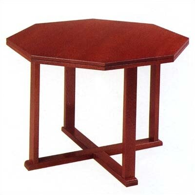 Contemporary Series Octagonal Conference Table Finish: Walnut, Size: 4' L Diameter Product Image 6