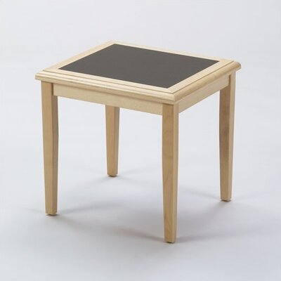 Somerset Series End Table Finish: Mahogany, Table Top Inlay: Gray Matrix