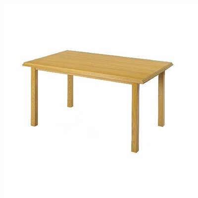 Contemporary Rectangular Conference Table Finish: Natural, Size: 6 L, Casters: Yes