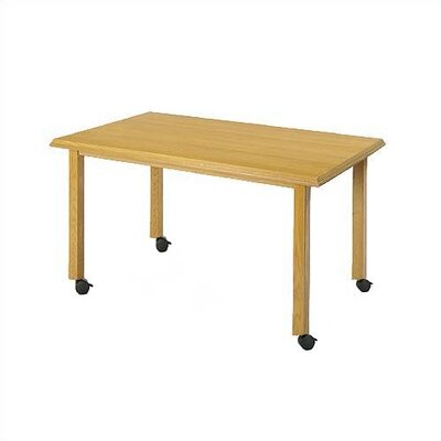 Contemporary Rectangular Conference Table Finish: Natural, Size: 5' L, Casters: Yes