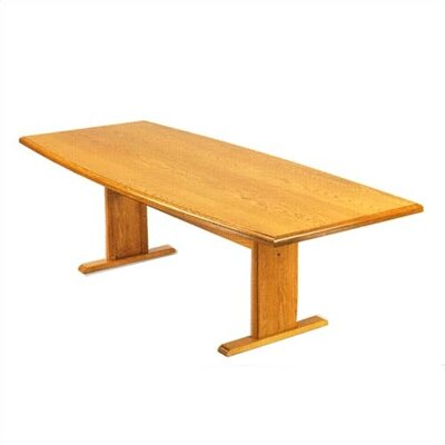 Contemporary Boat Shaped Conference Table Product Image 6
