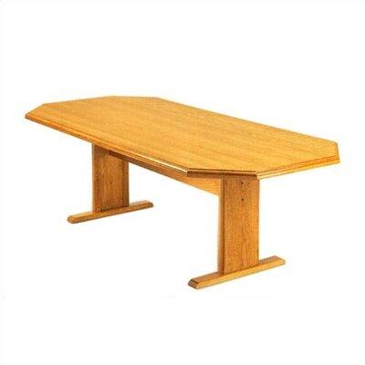 Lesro Contemporary Conference Table - Finish: Mahogany, Profile: Bullnose, Size: 6'