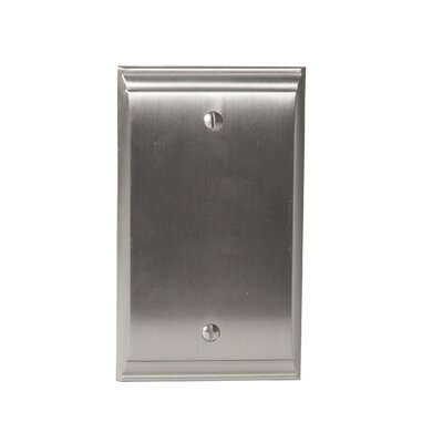Candler Blank Wallplate Finish: Satin Nickel