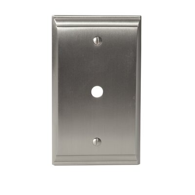 Candler Cable Wallplate Finish: Satin Nickel