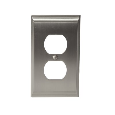 Candler Plug Outlet Wallplate Finish: Satin Nickel