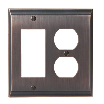 Candler Rocker 2 Plug Wallplate Finish: Oil-Rubbed Bronze
