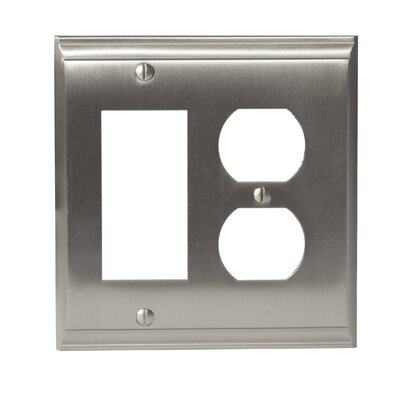 Candler Rocker 2 Plug Wallplate Finish: Satin Nickel