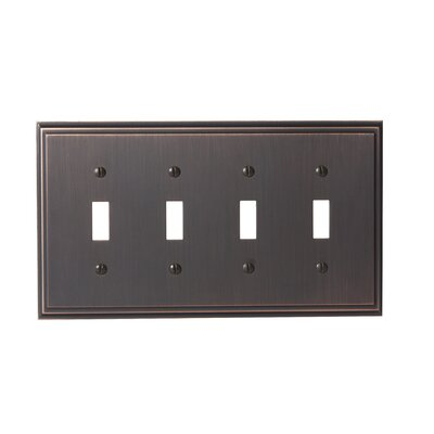 Mulholland 4 Toggle Socket Plate Finish: Oil-Rubbed Bronze