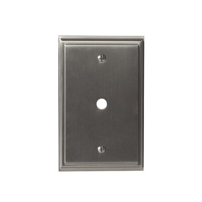 Mulholland Cable Wallplate Finish: Satin Nickel