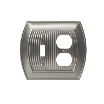 Allison Toggle 2 Plug Wallplate Finish: Satin Nickel