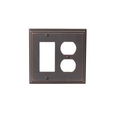 Mulholland Rocker 2 Plug Wallplate Finish: Oil-Rubbed Bronze