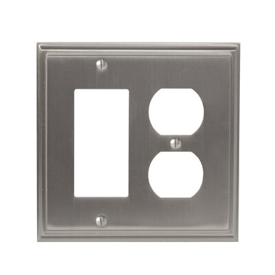 Mulholland Rocker 2 Plug Wallplate Finish: Satin Nickel