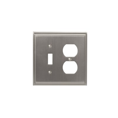 Mulholland Toggle 2 Plug Wallplate Finish: Satin Nickel