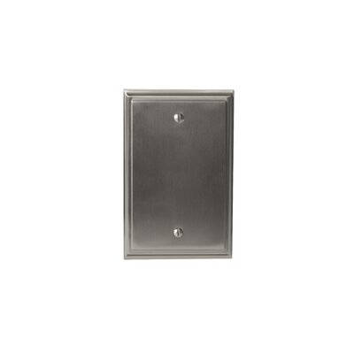 Mulholland Blank Wallplate Finish: Satin Nickel