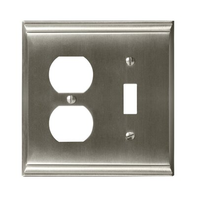 Candler Toggle 2 Plug Wallplate Finish: Satin Nickel
