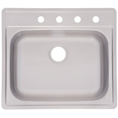 25 x 22 4 Hole Kitchen Sink