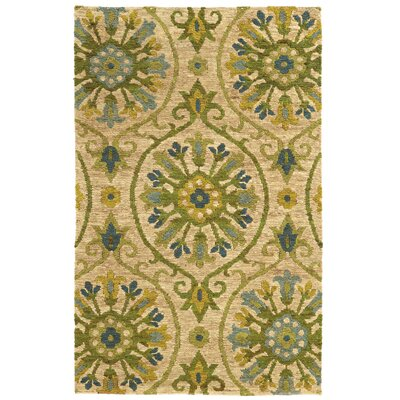 Tommy Bahama Valencia Beige / Green Floral Rug Rug Size: Rectangle 5 x 8