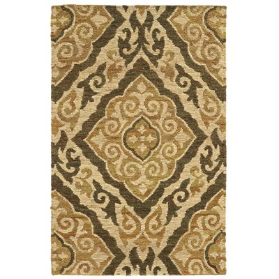 Tommy Bahama Valencia Beige / Gold Floral Rug Rug Size: Rectangle 36 x 56