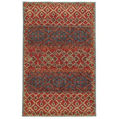 Tommy Bahama Jamison Red / Blue Geometric Rug Rug Size: Rectangle 36 x 56