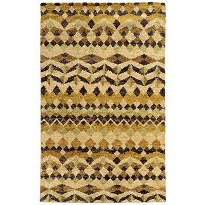 Tommy Bahama Ansley Beige / Gold Geometric Rug Rug Size: Rectangle 36 x 56