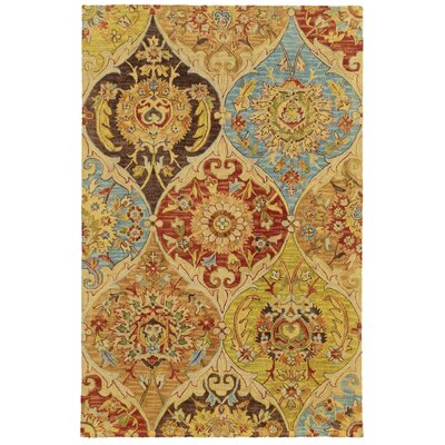 Tommy Bahama Jamison Beige / Multi Floral Rug Rug Size: Rectangle 5 x 8