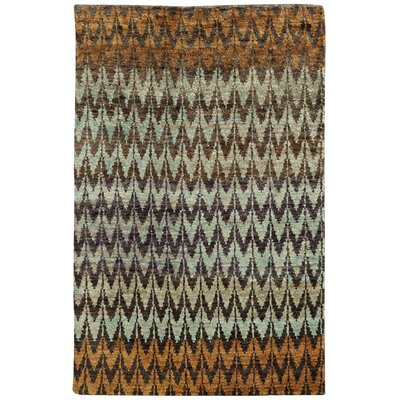 Tommy Bahama Ansley Brown / Blue Geometric Rug Rug Size: Runner 26 x 10