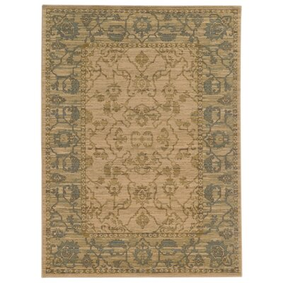 Tommy Bahama Vintage Beige / Blue Oriental Rug Rug Size: Rectangle 53 x 76