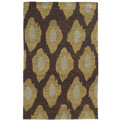Tommy Bahama Valencia Black / Gold Abstract Rug Rug Size: Runner 26 x 8