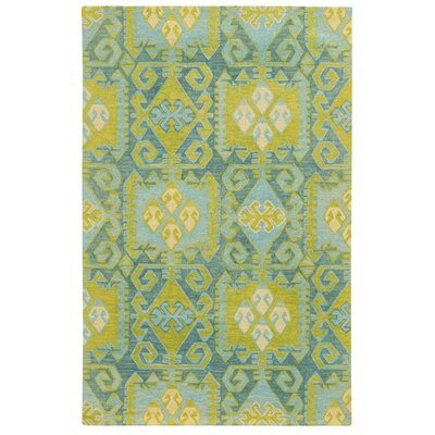 Tommy Bahama Jamison Blue / Green Geometric Rug Rug Size: Rectangle 5 x 8