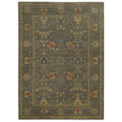 Tommy Bahama Vintage Blue / Gold Oriental Rug Rug Size: Rectangle 310 x 55