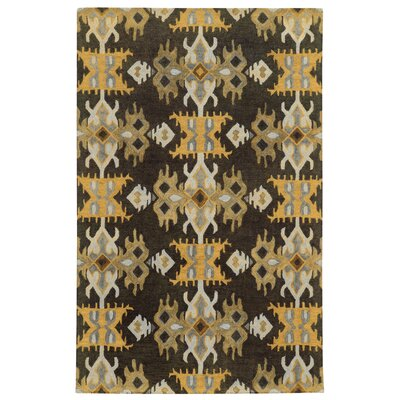 Tommy Bahama Jamison Black / Gold Geometric Rug Rug Size: Rectangle 5 x 8