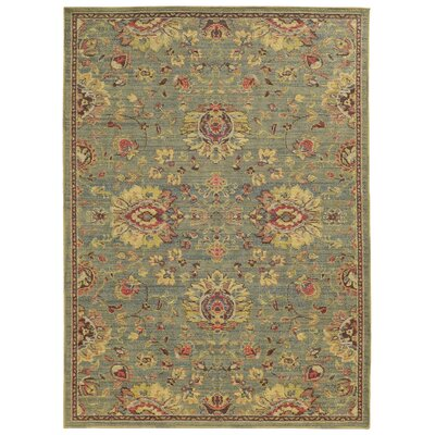 Cabana Hand-Woven Blue/Beige  Indoor/Outdoor Area Rug Rug Size: Runner 11 x 76