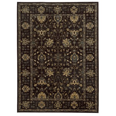 Tommy Bahama Vintage Charcoal / Blue Oriental Rug Rug Size: Rectangle 53 x 76