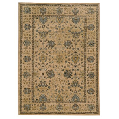 Tommy Bahama Vintage Beige / Blue Oriental Rug Rug Size: Rectangle 910 x 1210