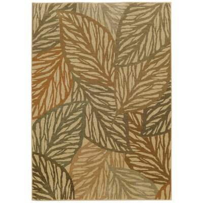 Tommy Bahama Voyage Beige / Multi Abstract Rug Rug Size: Rectangle 53 x 76