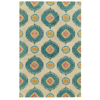 Tommy Bahama Jamison Beige / Blue Floral Rug Rug Size: Rectangle 36 x 56