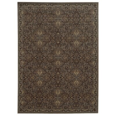 Tommy Bahama Vintage Brown / Blue Oriental Rug Rug Size: Rectangle 53 x 76