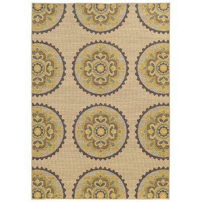 Tommy Bahama Cabana Beige / Multi Floral Rug Rug Size: Rectangle 710 x 1010