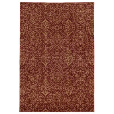 Tommy Bahama Voyage Red / Beige Floral Rug Rug Size: Rectangle 53 x 76