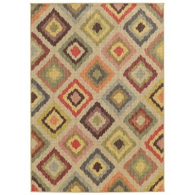 Tommy Bahama Cabana Beige / Multi Geometric Indoor/Outdoor Area Rug Rug Size: Rectangle 53 x 76