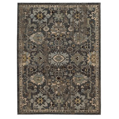 Vintage Hand-Woven Wool Blue/Grey Area Rug Rug Size: Rectangle 53 x 76