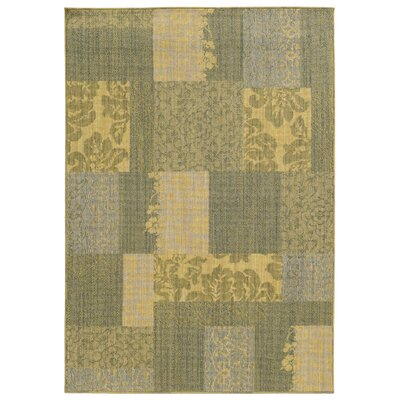 Tommy Bahama Cabana Blue & Beige Geometric Rug Rug Size: Rectangle 110 x 33