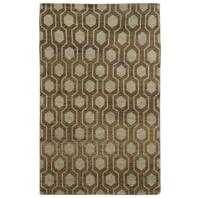 Tommy Bahama Maddox Brown / Blue Geometric Rug Rug Size: Rectangle 5 x 8