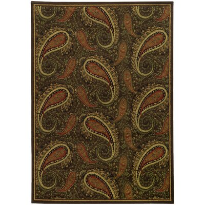 Villa Brown/Green Area Rug Rug Size: Rectangle 910 x 1210