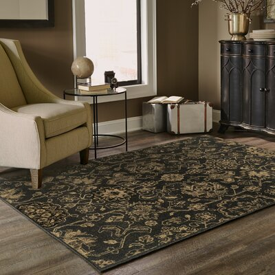 Villa Brown/Beige Area Rug Rug Size: Rectangle 910 x 1210