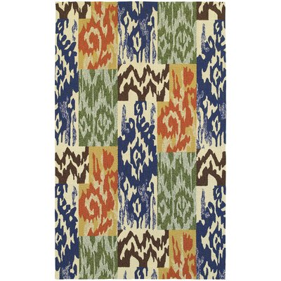 Atrium Ikat Indoor/Outdoor Area Rug Rug Size: Rectangle 36 x 56