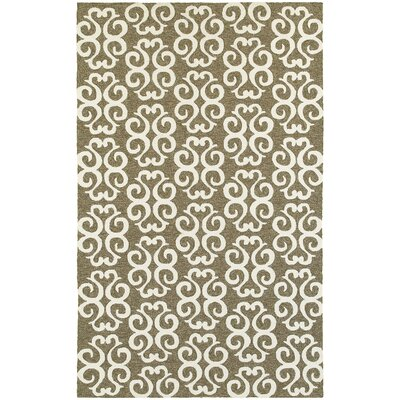 Atrium Scroll Work Brown/Ivory Indoor/Outdoor Area Rug Rug Size: Rectangle 5 x 8
